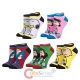 Peanuts 5 Pair Ankle Socks