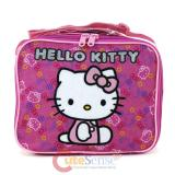 Sanrio Hello Kitty School Lunch Bag , Snack Box :Face all Over Pink
