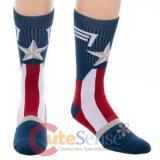 Marvel Captain America Crew Socks Suit up