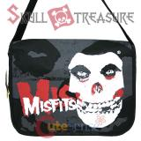 MISFITS Skull Messenger Bag -Foamed LapTop Bag (Up to16in)