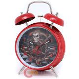 The Alchamy Guild  Clown Skull Alarm Clock : Red