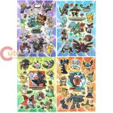 Pokemon Monster Emoseeing Foam Stickers Set (over 60pc)