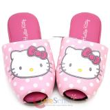 Sanrio Hello Kitty Pink Dots Leather Slipper -Adult size up to 11