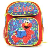 "Sesame Street Elmo School Backpack 12"" Medium Bag-Reading Book"