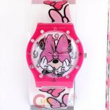 Disney Mininie Mouse Jelly Wrist Watch - Minnie Pink Bow with Rhinestone