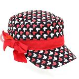 Disney Mickey Minnie Mouse All Over Military Hat with Red Bow