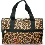 Leopard Canvas Duffle Travel Bag Animal Prints  Diaper Gym Bag