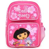 Dora The Explorer with Boots  Large School Backpack -Pink Butterfly