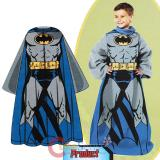 DC Comic Batman Throw Blanket with Sleeves -Kids Size