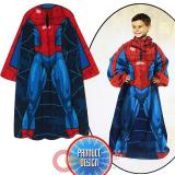 Marvel Spiderman  Throw Blanket with Sleeves -Kids Size