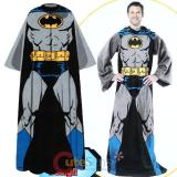 Batman Cozy Fleece  Blanket with Sleeves : Adult Size