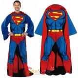 Marvel Superman Cozy Fleece  Blanket with Sleeves : Adult Size