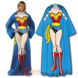 DC Wonder Woman Cozy Fleece  Blanket with Sleeves : Adult Size