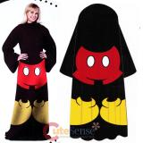 Disney Mickey Mouse Cozy Fleece  Blanket with Sleeves : Adult Size