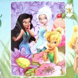 "Disney TinkerBell Fairies Microfiber Plush Throw Blanket : Twin ""FAIRY TREATS """