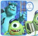 "Monsters University Sulley and Mike Microfiber Plush Throw Blanket : Twin ""GREEK GEEKS"""