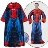 Marvel Spiderman Cozy Fleece  Blanket with Sleeves : Adult Size