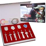 Legend of Zelda Metal Shield Blade Sword Weapon Set-11pc