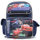 "Cars Mcqueen school Backpack 16"" Large Bag  with Francesco -OverTrack"