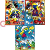The Smurfs  Stickers Cling Set of 3 - Removable Wall Window