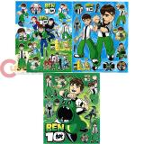 Ben 10 Alien  Stickers Set of 3 - Removable Wall Window