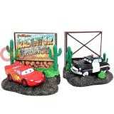Disney Cars McQueen and Sheriff Resin  Bookend 2pc Set