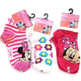 Disney Minnie Mouse Bowtique Turn Cuff Socks Set 3 Pair  Size 6-8