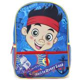 "Disney Jr. Jake Never Land Pirates  Large  Backpack 15.5"" Bag -Sail To Never Land"