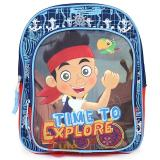 "Disney Jr. Jake Never Land Pirates  School Backpack10"" Small Toddler Bag"