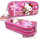 Sanrio Hello Kitty Pencil Case , Cosmetic  Pouch  Bag - Super Sweet Pink Bear