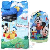 Disney Mickey Mouse Kids  Sleeping Bag Slumber Bag with Carry Backpack
