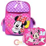 Disney Minnie Mouse Large School Backpack and Lunch Bag Set - Lucky Bag