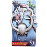 Marvel Avengers Loki Helmet Metal Key Chain Pewter 3D
