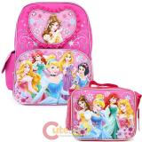Disney Princess Floral with Tangled School Backpack and Lunch Bag Set