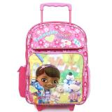 "Disney Jr. Doc Mcstuffins Large School Roller Backpack 16"" Rolling Bag-Friendship"