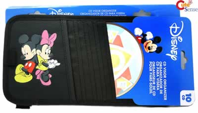 Disney Mickey & Minnie Mouse CD Visor Organizer Case Auto Accessories