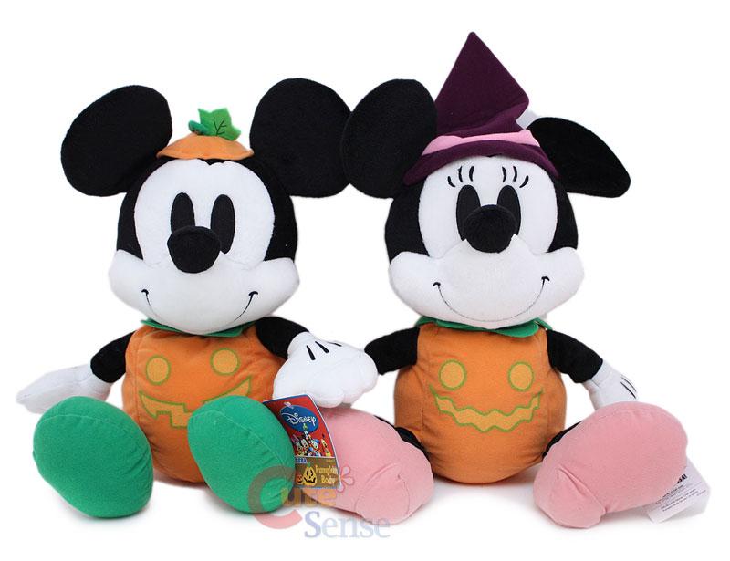 Disney Mickey Minnie Mouse Plush Doll Halloween Pumkin 1