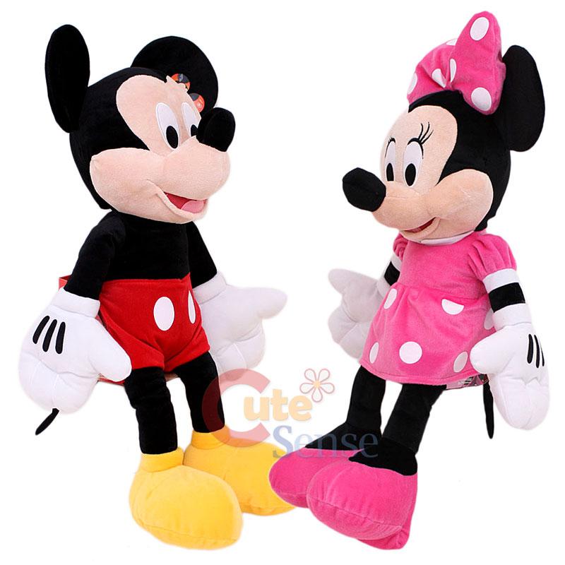 Disney Mickey & Minnie Mouse Plush Doll  Jumbo Size 26
